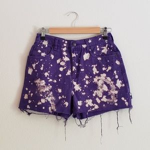 VTG High Waist Purple Bleached Shorts